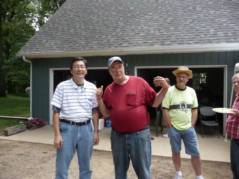 N8ECR (Mike), AB9MQ (Masa) & N6TLU (Terry). Taken at the KI8BQ AM Meet (2016, Sturgis MI)